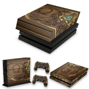 KIT PS4 Fat Skin e Capa Anti Poeira - Pandora'S Box God Of War