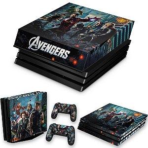 KIT PS4 Pro Skin e Capa Anti Poeira - The Avengers - Os Vingadores