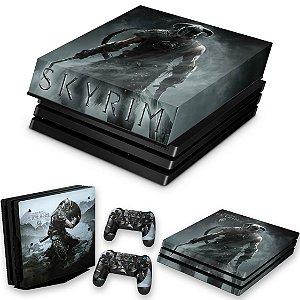 KIT PS4 Pro Skin e Capa Anti Poeira - Skyrim