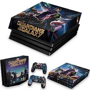 KIT PS4 Pro Skin e Capa Anti Poeira - Guardioes Da Galaxia