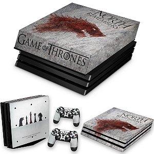 KIT PS4 Pro Skin e Capa Anti Poeira - Game Of Thrones #A