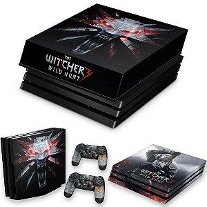 KIT PS4 Pro Skin e Capa Anti Poeira - The Witcher #A