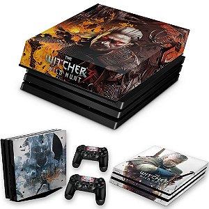 KIT PS4 Pro Skin e Capa Anti Poeira - The Witcher #B