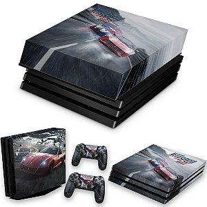 KIT PS4 Pro Skin e Capa Anti Poeira - Need For Speed Rivals