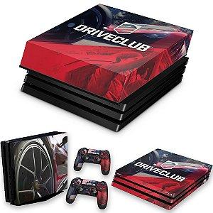 KIT PS4 Pro Skin e Capa Anti Poeira - Driveclub