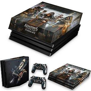 KIT PS4 Pro Skin e Capa Anti Poeira - Assassins Creed Syndicate