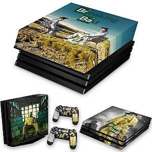 KIT PS4 Pro Skin e Capa Anti Poeira - Breaking Bad