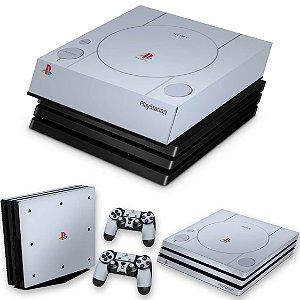 KIT PS4 Pro Skin e Capa Anti Poeira - Sony Playstation 1
