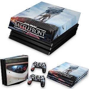 KIT PS4 Pro Skin e Capa Anti Poeira - Star Wars - Battlefront