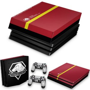 KIT PS4 Pro Skin e Capa Anti Poeira - The Metal Gear Solid 5 Special Edition