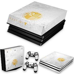 KIT PS4 Pro Skin e Capa Anti Poeira - Limited Edition Destiny
