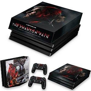 KIT PS4 Pro Skin e Capa Anti Poeira - Metal Gear Solid 5: The Phantom Pain