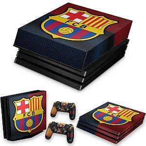 KIT PS4 Pro Skin e Capa Anti Poeira - Barcelona