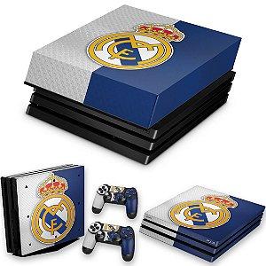 KIT PS4 Pro Skin e Capa Anti Poeira - Real Madrid