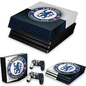 KIT PS4 Pro Skin e Capa Anti Poeira - Chelsea