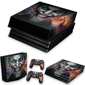 KIT PS4 Pro Skin e Capa Anti Poeira - Coringa Joker