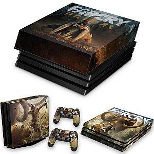 KIT PS4 Pro Skin e Capa Anti Poeira - Far Cry Primal