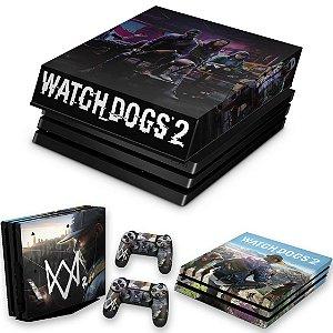 KIT PS4 Pro Skin e Capa Anti Poeira - Watch Dogs 2