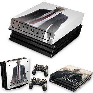 KIT PS4 Pro Skin e Capa Anti Poeira - Hitman 2016
