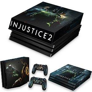 KIT PS4 Pro Skin e Capa Anti Poeira - Injustice 2