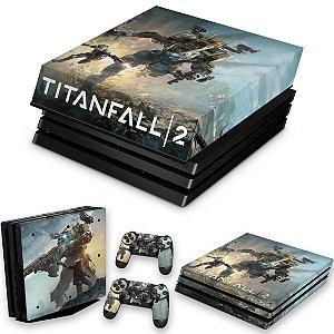KIT PS4 Pro Skin e Capa Anti Poeira - Titanfall 2 #A