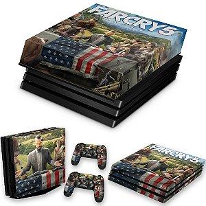 KIT PS4 Pro Skin e Capa Anti Poeira - Far Cry 5