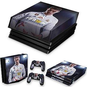 KIT PS4 Pro Skin e Capa Anti Poeira - Fifa 18