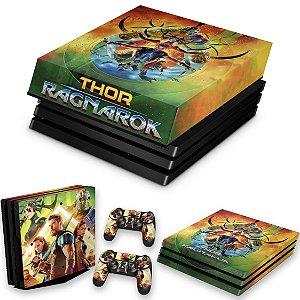 KIT PS4 Pro Skin e Capa Anti Poeira - Thor Ragnarok