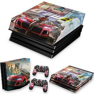KIT PS4 Pro Skin e Capa Anti Poeira - The Crew 2