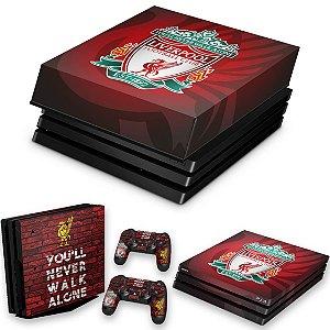 KIT PS4 Pro Skin e Capa Anti Poeira - Liverpool
