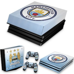 KIT PS4 Pro Skin e Capa Anti Poeira - Manchester City Fc