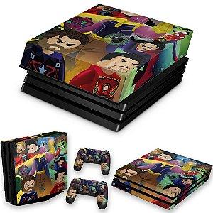 KIT PS4 Pro Skin e Capa Anti Poeira - Lego Avengers Vingadores
