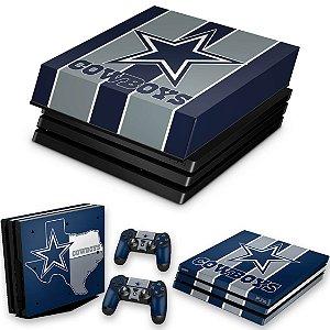 KIT PS4 Pro Skin e Capa Anti Poeira - Dallas Cowboys Nfl
