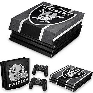 KIT PS4 Pro Skin e Capa Anti Poeira - Oakland Raiders Nfl