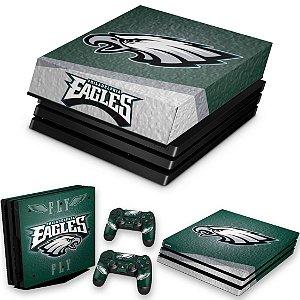 KIT PS4 Pro Skin e Capa Anti Poeira - Philadelphia Eagles Nfl