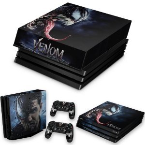 KIT PS4 Pro Skin e Capa Anti Poeira - Venom
