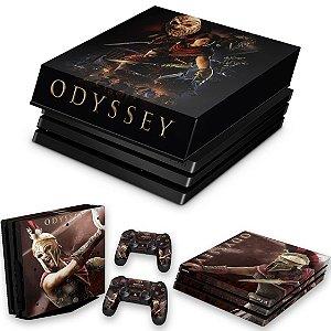 KIT PS4 Pro Skin e Capa Anti Poeira - Assassins Creed Odyssey
