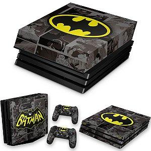KIT PS4 Pro Skin e Capa Anti Poeira - Batman Comics