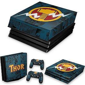 KIT PS4 Pro Skin e Capa Anti Poeira - Thor Comics