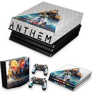 KIT PS4 Pro Skin e Capa Anti Poeira - Anthem