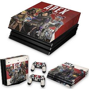 KIT PS4 Pro Skin e Capa Anti Poeira - Apex Legends