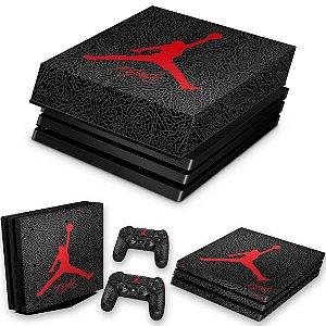 KIT PS4 Pro Skin e Capa Anti Poeira - Air Jordan Flight