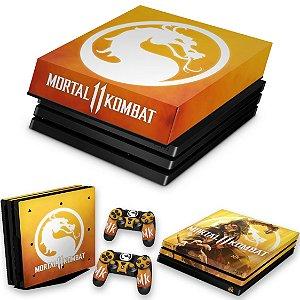 KIT PS4 Pro Skin e Capa Anti Poeira - Mortal Kombat 11