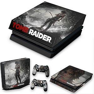 KIT PS4 Slim Skin e Capa Anti Poeira - Tomb Raider