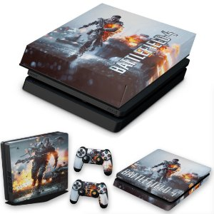 KIT PS4 Slim Skin e Capa Anti Poeira - Battlefield 4
