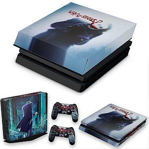 KIT PS4 Slim Skin e Capa Anti Poeira - Coringa Joker #A
