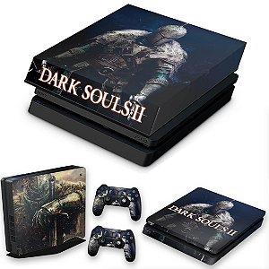 KIT PS4 Slim Skin e Capa Anti Poeira - Dark Souls 2