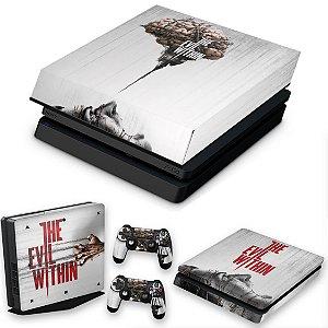 KIT PS4 Slim Skin e Capa Anti Poeira - The Evil Within