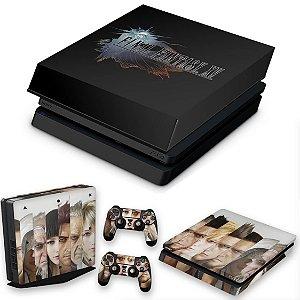 KIT PS4 Slim Skin e Capa Anti Poeira - Final Fantasy Xv #A