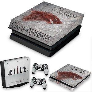 KIT PS4 Slim Skin e Capa Anti Poeira - Game Of Thrones #A